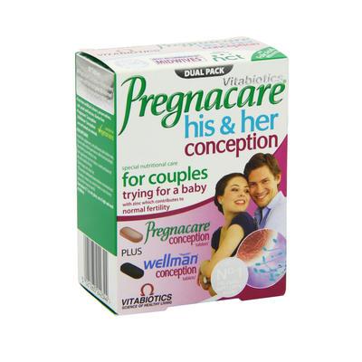 Vitabiotics Pregnacare 男女孕前营养套装 2*30片