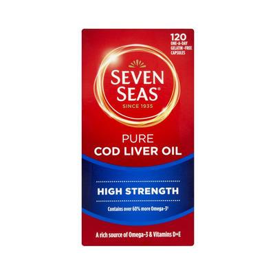 Seven Seas 七海 纯正鱼肝油(加强型) 120粒