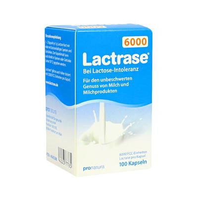 Lactrase 乳糖酶6000单位 100粒(乳糖不耐受)