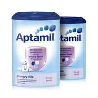 【2罐装】Aptamil 英国爱他美 婴儿抗饿配方奶粉(0-12m) 900g/罐