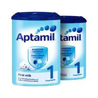 【2罐装】Aptamil 英国爱他美 婴儿配方奶粉1段(0-6m) 900g