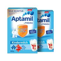 【2罐装】Aptamil 德国爱他美幼儿益生元配方奶粉1+段(1岁+) 600g