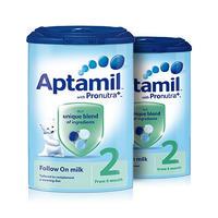 【2罐装】Aptamil 英国爱他美 婴幼儿配方奶粉2段(6-12m) 900g/罐