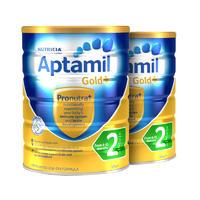 【2罐装】Aptamil 澳洲爱他美金装加强配方奶粉2段 (6个月以上) 900g