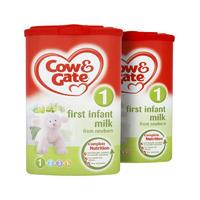 【2罐装】Cow&Gate 英国牛栏 婴儿配方奶粉1段(0-6m) 900g