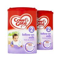 【2罐装】Cow&Gate 英国牛栏 婴儿配方奶粉2段(6-12m) 900g