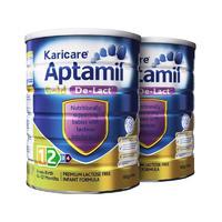 【2罐装】Karicare AptamilGoldDe-Lact 澳洲可瑞康爱他美金装无乳糖奶粉 900g(0-12月)