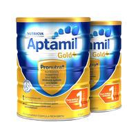 【2罐装】NutriciaAptamil 澳洲新版爱他美金装奶粉(1段) 900g
