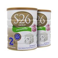 【2罐装】S-26 Gold 澳洲惠氏金装2段奶粉 900克(6-12个月的婴儿)