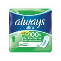 Always 日用卫生巾不含荧光剂 20片
