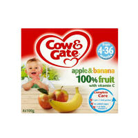 Cow & Gate 苹果&香蕉果泥罐头(4-36个月起) 4×100g/盒