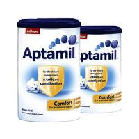 【2罐装】Aptamil 英国爱他美 防腹泻防腹胀防便秘肠胃舒适配方奶粉 900g(0-12个月的宝宝)