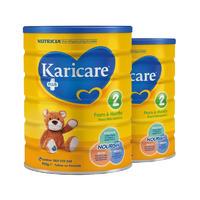 【2罐装】Karicare 可瑞康 2段婴幼儿配方奶粉 (6个月以上) 2*900g/罐