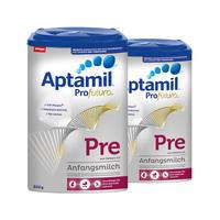【2罐装】Milupa Aptamil Profutura Pre 爱他美白金版婴儿配方奶粉 Pre段(0-3个月)800g