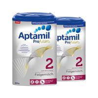 【2罐装】Milupa Aptamil Profutura 2 爱他美白金版婴儿配方奶粉 2段(6-12个月)800g