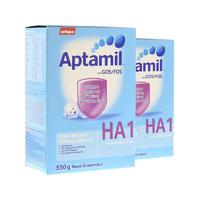 【2罐装】Aptamil 爱他美 HA抗过敏婴儿配方奶粉 1段(防止牛奶蛋白过敏)550g