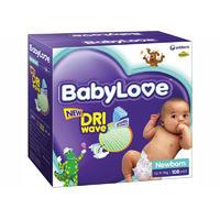 BabyLove 新生儿尿布(5kg以下) 108片(每单限买2箱)
