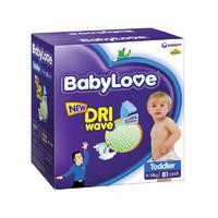 BabyLove (9-14kg)幼儿尿布 81片(每单限买2箱)
