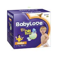 BabyLove (12-17kg)幼儿尿布 72片(每单限买2箱)