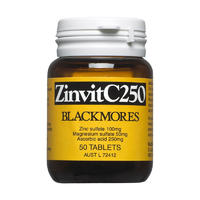 Blackmores 澳佳宝 Zinvit C 补充锌镁维生素C 250mg 50片