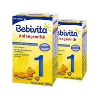 【2盒装】Bebivita 贝唯他 婴幼儿配方奶粉 1段 2*500g/罐(0-6个月)