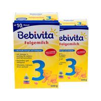 【2盒装】Bebivita 贝唯他 婴幼儿配方奶粉 3段 2*500g/罐(10个月以上)