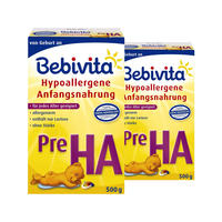 【2盒装】Bebivita 贝唯他 婴儿低过敏原配方奶粉 HA pre段 2*500g/罐
