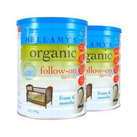 【2罐装】Bellamy's 贝拉米 有机奶粉 2段 900g(6-12个月)