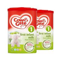 【2罐装】Cow & Gate 英国牛栏 婴儿配方奶粉1段 900g(0-6个月的宝宝)