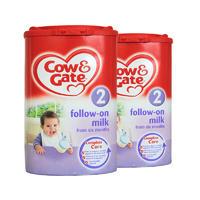 【2罐装】Cow & Gate 英国牛栏 婴儿配方奶粉2段 900g(6-12个月的宝宝)