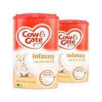 【2罐装】Cow&Gate 英国牛栏 抗过敏型豆奶粉(0-6个月) 900g*2