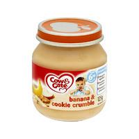 Cow & Gate 香蕉&饼干碎屑泥罐头(6个月起) 125g*6瓶
