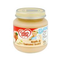 Cow & Gate 苹果&香蕉果泥罐头(4-6个月起) 125g*6瓶