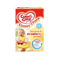 Cow & Gate 香蕉&草莓果味麦片粥(4-6个月起) 125g
