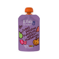 Ella's Kitchen 艾拉厨房 蔬菜果泥(红薯&南瓜&苹果&蓝莓) 120g(4m+)