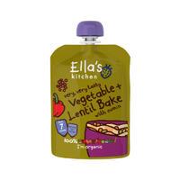 Ella's Kitchen 艾拉厨房 有机婴儿辅食(蔬菜烤扁豆)130g