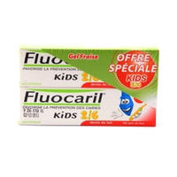 Fluocaril 儿童牙膏 7-12岁专用 草莓口香糖泡泡糖口味 50mlx2