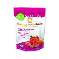 Happy Baby 禧贝 婴幼儿辅食有机蔬菜和水果薯片 28g(草莓和胡萝卜味)