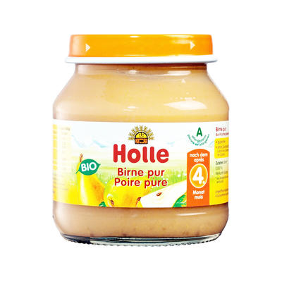 Holle 泓乐 有机纯梨子果泥罐头 125g (4个月以上)