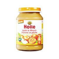 Holle 泓乐 有机苹果桃子果泥罐头 190g (4个月以上)