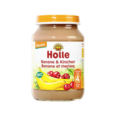 Holle 泓乐 有机香蕉樱桃果泥罐头 190g (4个月以上)