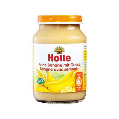 Holle 泓乐 有机精细香蕉和粗小麦果泥罐头 190g (6个月以上)