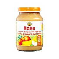 Holle 泓乐 有机苹果香蕉杏子果泥罐头 190g (6个月以上)