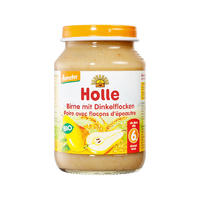 Holle 泓乐 有机斯佩尔特小麦和梨子果泥罐头 190g (6个月以上)