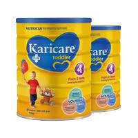 【2罐装】Karicare 可瑞康 普装4段婴幼儿配方奶粉 (2岁以上) 2*900g/罐