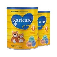 【2罐装】Karicare 婴儿配方奶粉 1段(0-6个月) 2*900g/罐