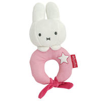 Miffy 米菲兔 丹宁系列 摇铃圈响铃圈 1个(粉色 )