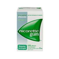 Nicorette 力克雷 戒烟口香糖 原味 105*2mg/粒