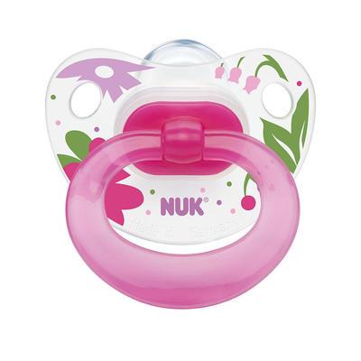 NUK 快乐时光系列 1段硅胶安抚奶嘴 2个 粉色(适合0-6个月的宝宝)