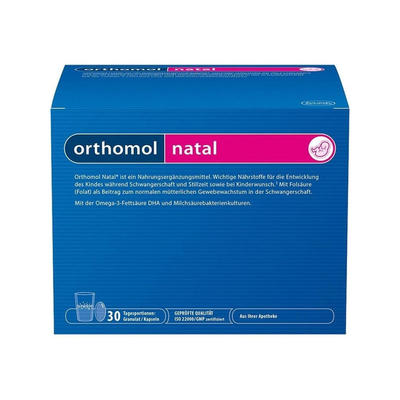 Orthomol 奥适宝 Natal 女性备孕及孕期营养补充冲剂/胶囊(组合装) 30天剂量